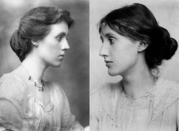 Vanessa Bell (solda) ve Virginia Woolf